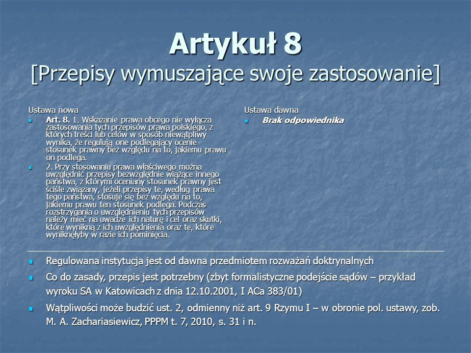 Artykuł 8 [Przepisy wymuszające swoje zastosowanie]